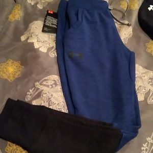 Boys Under Armour fitted double knit joggers